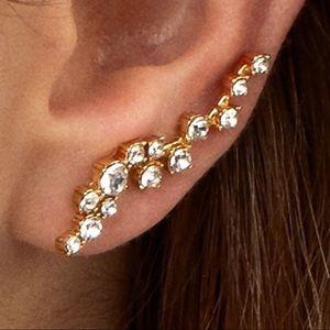 BaubleBar Farah Rhinestone Crawlers Earrings NEW